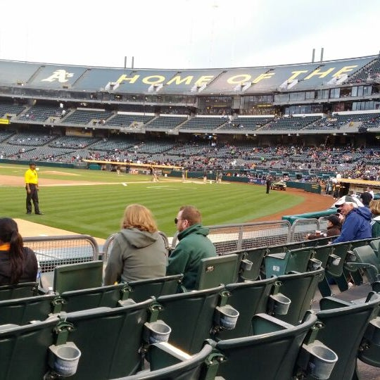 Photo taken at O.co Coliseum by Adam S. on 4/4/2012