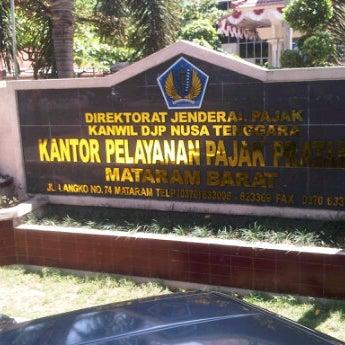 Photo taken at Kantor Pelayanan Pajak Pratama Mataram Barat by Ray A. on 9/21/2011