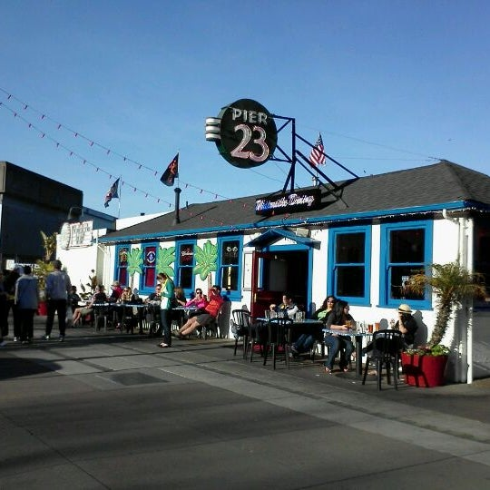 Photo taken at Pier 23 Cafe by Frankie F. on 1/28/2012