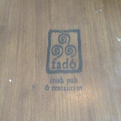 Photo taken at Fado Irish Pub & Restaurant by James O. on 8/12/2012