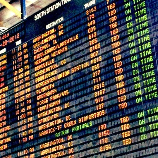 Photo taken at South Station Terminal (MBTA / Amtrak) by Rahil C. on 4/20/2012