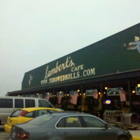 Photo taken at Lambert's Cafe by Brandon T. on 11/23/2011