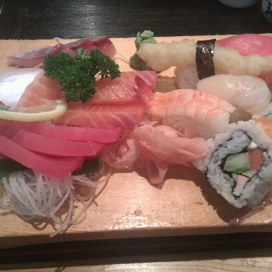 The sushi sashimi is good value for money and sufficient for 2 with maybe another entree.