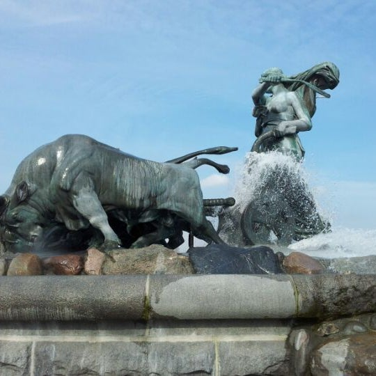 Photo taken at Gefion Fountain by Jan Friborg J. on 4/12/2012