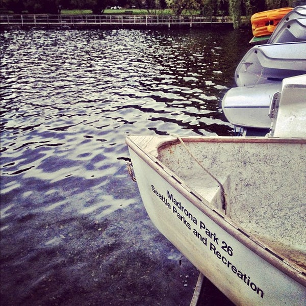 Photo taken at Green Lake Boathouse by Kate K. on 7/24/2012
