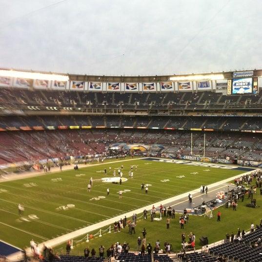 Photo taken at Qualcomm Stadium by Ronn H. on 11/11/2011