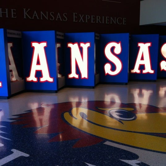 Photo taken at Allen Fieldhouse by Jessica H. on 6/30/2012