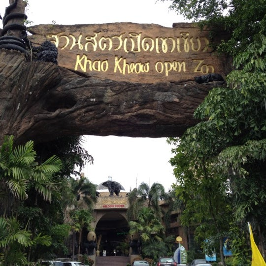 Photo taken at Khao Kheow Open Zoo by Rathanon V. on 4/6/2012