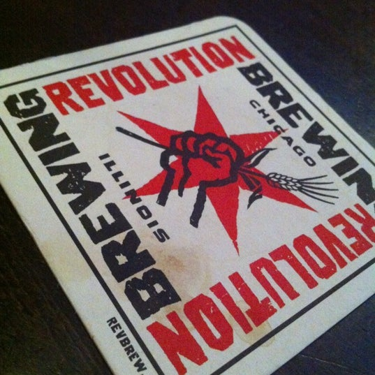 Photo taken at Revolution Brewing by tankboy on 8/12/2012