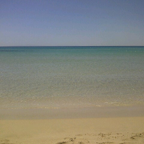 Photo taken at Ramo Beach by didem k. on 6/29/2012