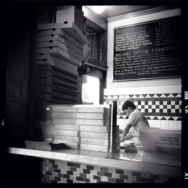 Photo taken at Milano Pizzeria by nancy t. on 7/10/2012