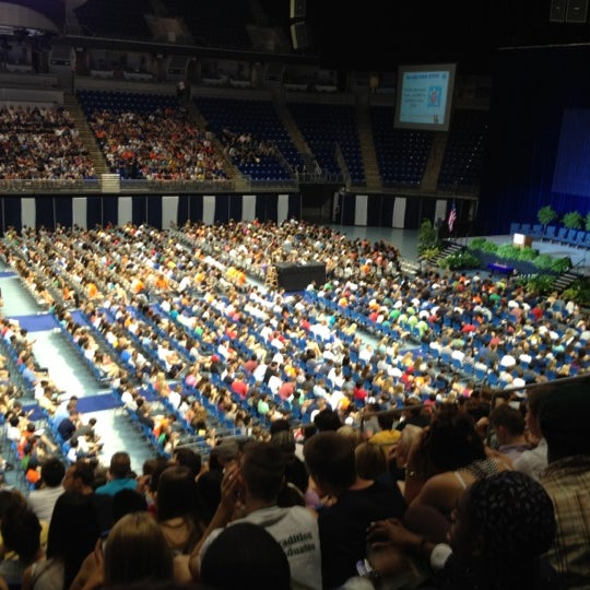Photo taken at Bryce Jordan Center by Elliot O. on 8/26/2012