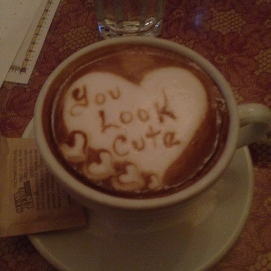 Ask for cappuccino and they write a message to you!