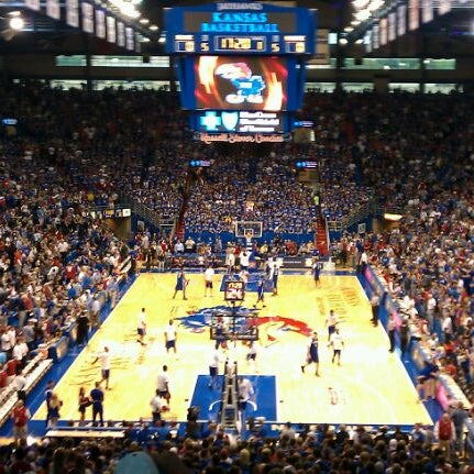 Photo taken at Allen Fieldhouse by Justin M. on 9/24/2011