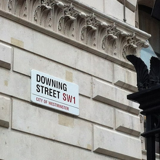 Photo taken at 10 Downing Street by Mark C. on 8/21/2012