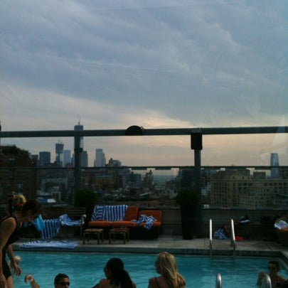 Photo taken at Gansevoort Meatpacking NYC by Daryl M. on 8/4/2012