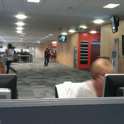 Photo taken at University of Warwick Library by Nath B. on 6/7/2012
