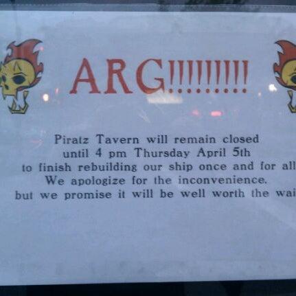 Photo taken at Piratz Tavern by Bobcat on 4/1/2012