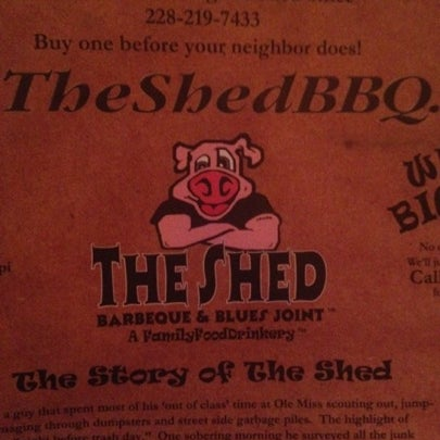 Photo taken at The Shed Barbeque and Blues Joint by Marcel C. on 7/28/2012