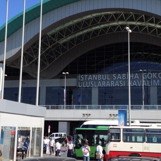 Photo taken at Istanbul Sabiha Gökçen International Airport (SAW) by Tamer Hatip ت. on 6/19/2012