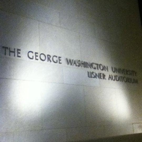 Photo taken at Lisner Auditorium by Michael P. on 3/8/2012
