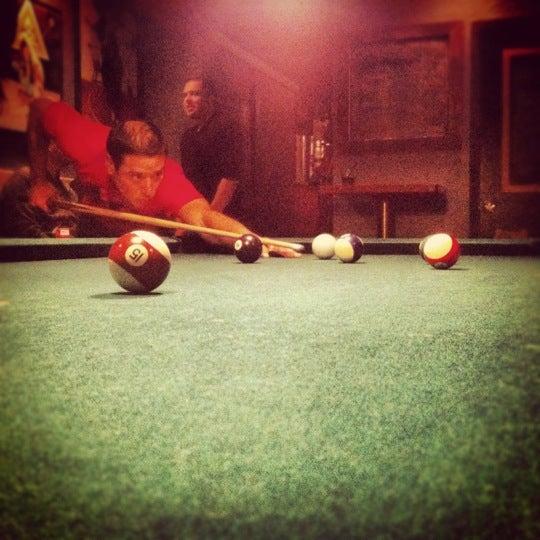 Play pool. Drink Hamm's.