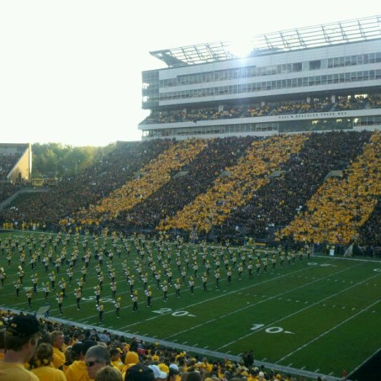 Photo taken at Kinnick Stadium by Del B. on 10/15/2011