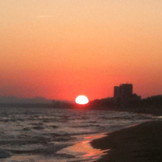 Photo taken at Platja de Calafell by Elena L. on 10/8/2011