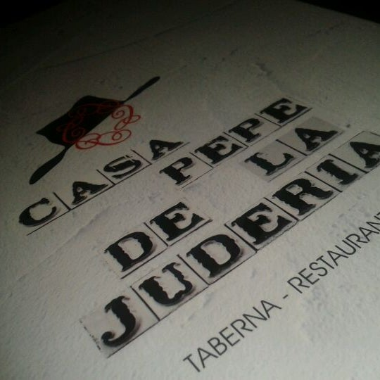 Foto tomada en Casa Pepe de la Judería por Fer el 8/12/2012