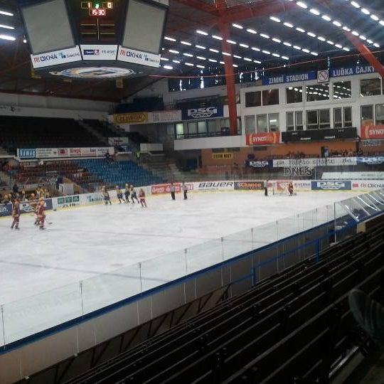 Photo taken at Zimní stadion Luďka Čajky by Matěj U. on 9/1/2011