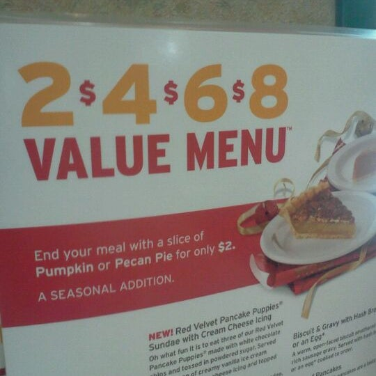 Build your own meal with the 2 4 6 8 menu!