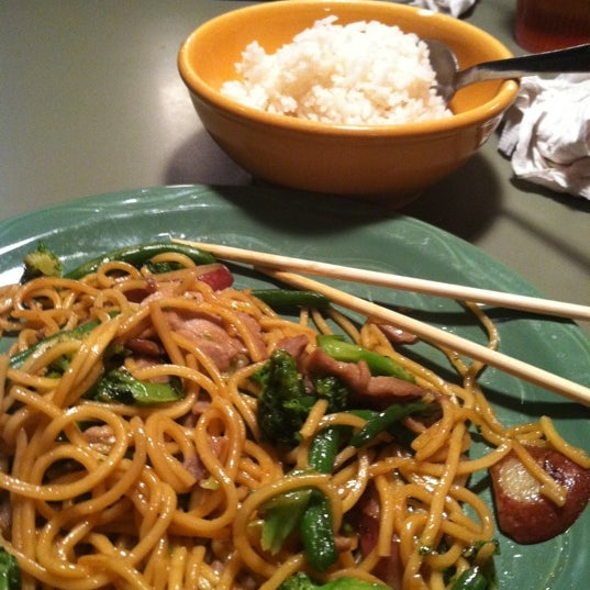 Photo taken at HuHot Mongolian Grill by Meredith E. on 8/29/2011