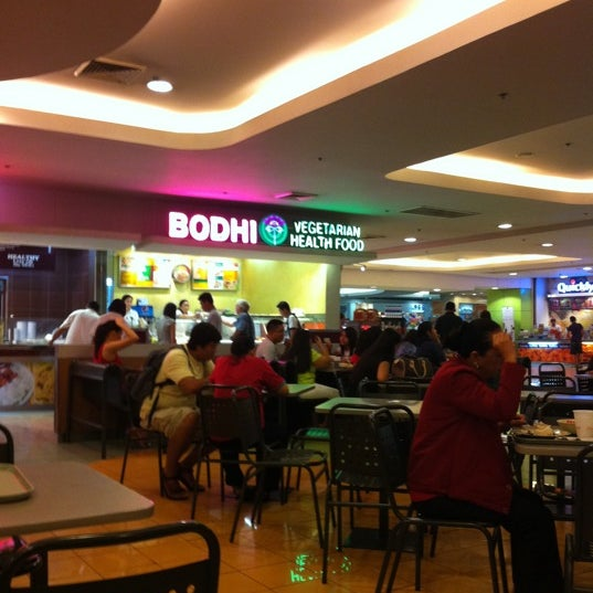 Bodhi Vegetarian Health Food is awesome. Veggie meat cooked as regular dishes. The best is their asado and the veggie meat with ampalaya.