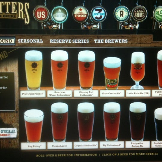 From the Provo Girl Pilsner to Captain Bastard's Oatmeal Stout, you are sure to find a beer to suit you needs. #pdr