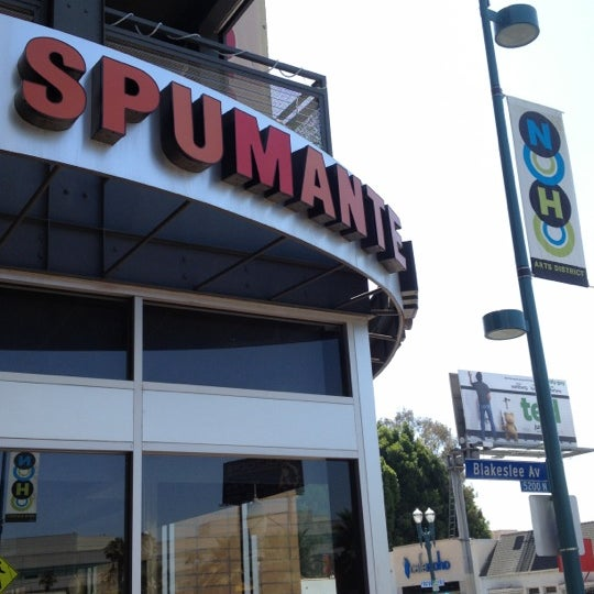 Spumante Restaurant North Hollywood Menu