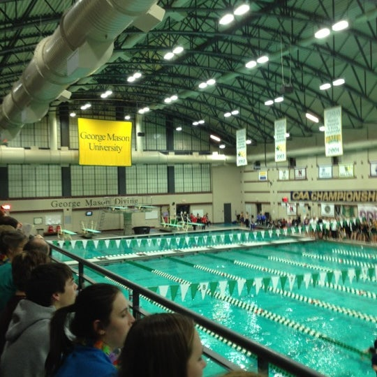 Photo taken at Aquatic and Fitness Center - George Mason University by Diane B. on 2/26/2012