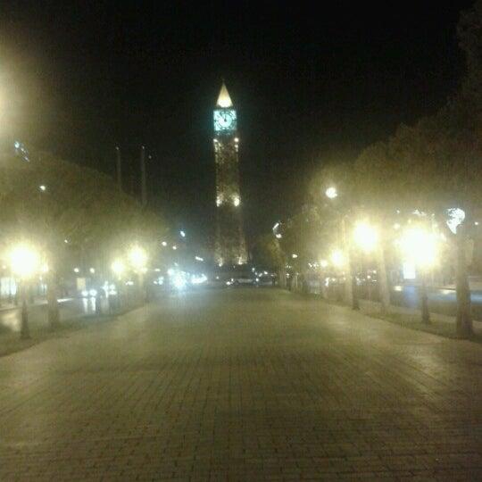 Photo taken at Avenue Habib Bourguiba by Gassam H. on 8/23/2012