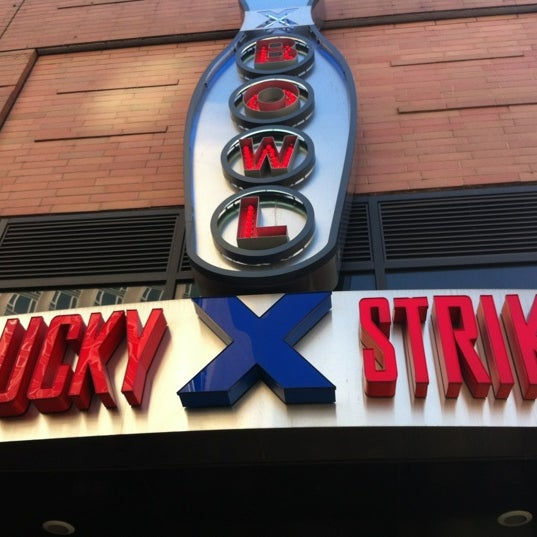 Photo taken at Lucky Strike New York by Megan H. on 11/10/2011