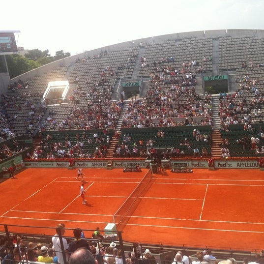 Photo taken at Stade Roland Garros by Youssef M. on 6/4/2011