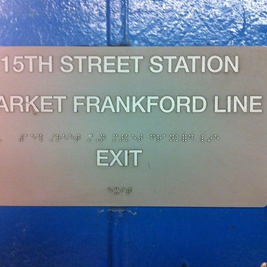 Photo taken at SEPTA MFL/TRL 15th Street Station by Jonathan C. on 5/30/2011