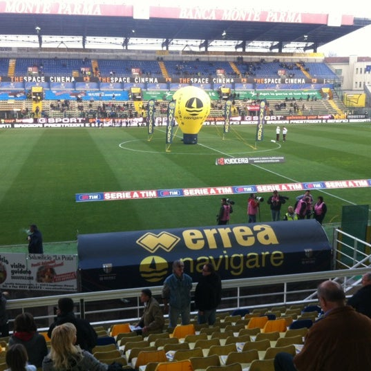 Photo taken at Stadio Ennio Tardini by Stefano P. on 3/17/2012