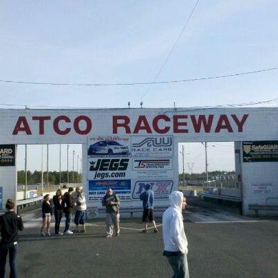 Photo taken at Atco Raceway by Len G. on 4/14/2012