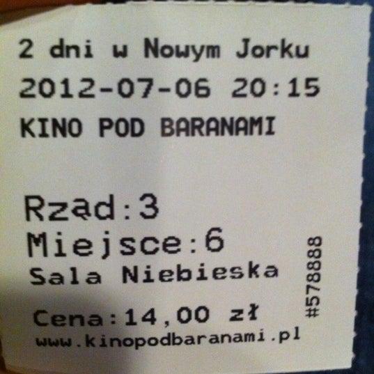 Photo taken at Kino Pod Baranami by Irek S. on 7/6/2012