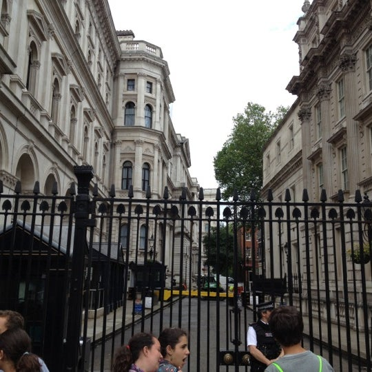 Photo taken at 10 Downing Street by Nick T. on 7/7/2012