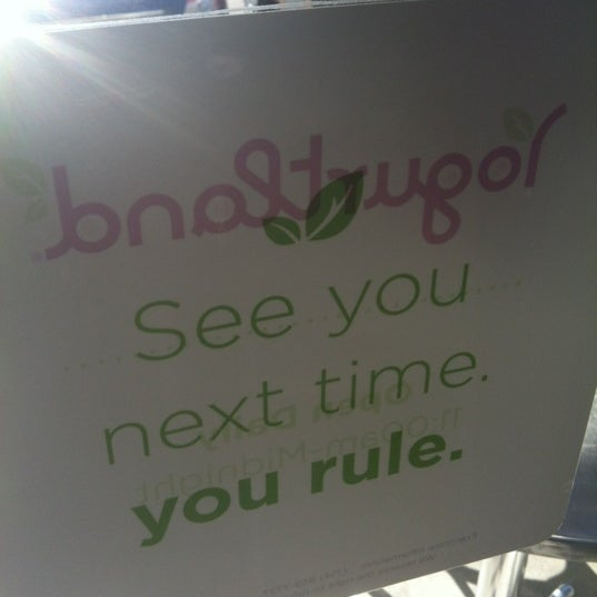 Photo taken at Yogurtland by Chantal F. on 8/27/2012