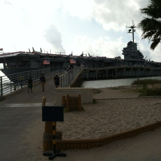 Photo taken at USS Lexington Museum On The Bay by Linda on 8/25/2012