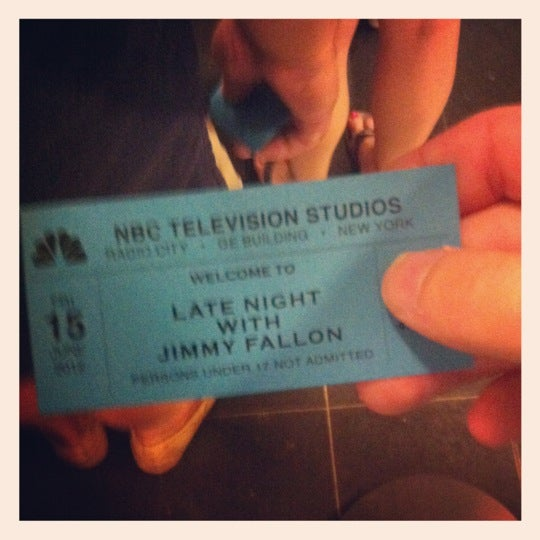 Photo taken at Late Night with Jimmy Fallon by Steve A. on 6/16/2012