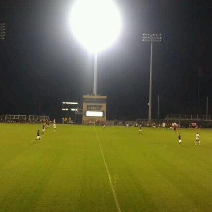 Photo taken at Dick Dlesk Soccer Stadium by Audrey M. on 10/9/2011