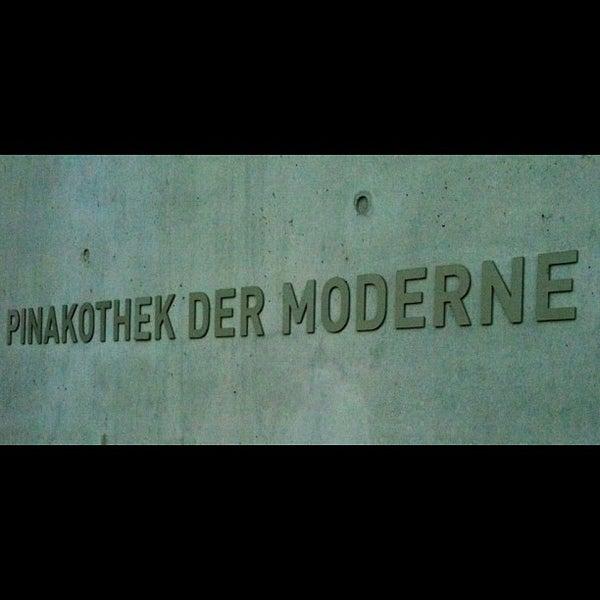 Photo taken at Pinakothek der Moderne by Giulia M. on 8/22/2012