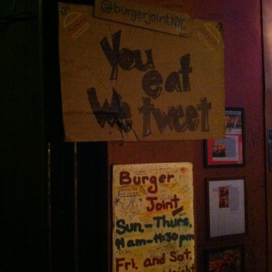 Photo taken at Burger Joint by Massimiliano P. on 4/2/2012